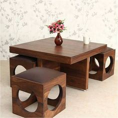 Ethnic India Art solid Wood Coffee Table with 4 Stools Buy Ethnic.ethnic India Art solid Wood Coffee Table with 4 Stools Buy Ethnic. Solid Oak Coffee Table, Diy Coffee Table, Coffee Table Design, Sofa Table Design, Unique Furniture, Home Decor Furniture, Dining Furniture, Furniture Design, Wooden Furniture