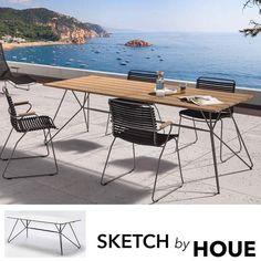 SKETCH, hage bord, bambus eller HPL og epoxy stål, etter HOUE