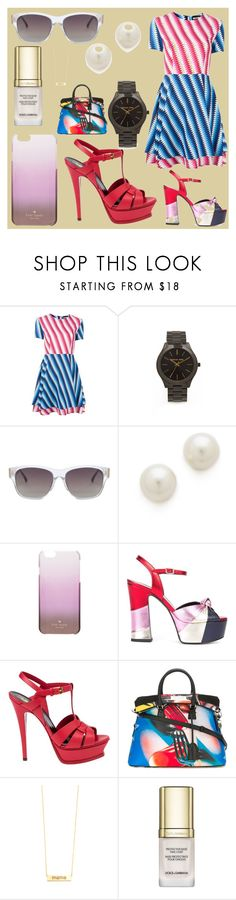 """FASHIONABLE"" by justinallison ❤ liked on Polyvore featuring House of Holland, Michael Kors, Linda Farrow, Kenneth Jay Lane, Kate Spade, Yves Saint Laurent, Maison Margiela, ZoÃ« Chicco and Dolce&Gabbana"