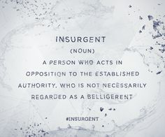 What is your definition of Insurgent? #TruthIsComing