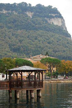 Lakeside at Garda Town, Lake Garda, Italy