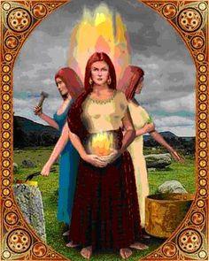 Bridit é a Grande Deusa Mãe. Ela é uma deusa do fogo e da forja, portanto de habilidades artísticas, especialmente o trabalho com o metal. Ela também representa o aspecto mãe pela fertilidade do ventre tanto da mulher como da terra, e também a fertilidade da inspiração. Ela também é adorada como deusa de proteção e cura e pode ser invocada em praticamente qualquer encantamento ou mágica que envolva tais esforços...