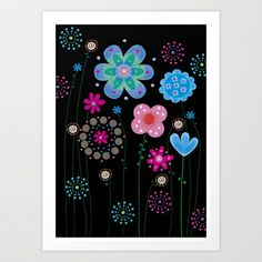 floral5 Art Print by Marianna Jagoda