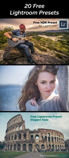 20 Free Lightroom Presets from PhotographyPla.net