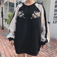 "PINK BLUE SAKURA CHEST EMBROIDERY COLORED LINE SLEEVE OVERSIZED SWEATSHIRT Use coupon ""ITPIN"" to get 10% OFF entire order - itgirlclothing.com | itGirl Shop #kfashion #korean #fashion #tumblr #southkorean #ulzzang #streetstyle #aesthetic #clothing #apparel #kawaii #cute #women #indie #grunge #pastel #kawaiifashion #pale #style #shop #buy #store #online #kawaiishop #freeshipping #free #shipping #worldwide #palegoth #softgrunge #softgoth #minimalism #inspiration #goals #outfit #itgirlclothing…"