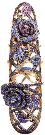 Lydia Courteille 18K Yellow Gold To Cassandra Ring With White
