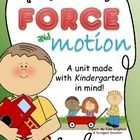 force, motion, science, physics, pull, push, gravity, position,   The NEW Kindergarten Science standards are here! Are you prepared to teach Force ...