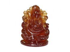 Ganesha in Gomedh / Hessonite – 65 carat
