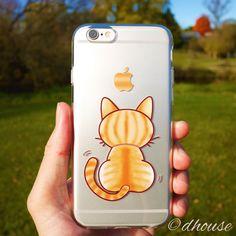 MADE IN JAPAN Soft Clear TPU Case Cute Cat design for iPhone 6 & iPhone 6s