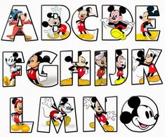 Mickey alphabet A - O Disney Mickey Mouse, Camisa Do Mickey Mouse, Mickey Mouse Letters, Mickey Mouse E Amigos, Mickey Mouse Drawings, Mickey Mouse Classroom, Theme Mickey, Fiesta Mickey Mouse, Disney Classroom