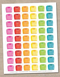 Scales Planner Stickers Instant Download DIY Printable PDF for Exercise Gym or Weight Training