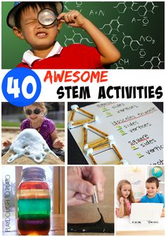 40 Awesome STEM Activities for Kids. Science experiments, math games, engineering activities and technology apps.
