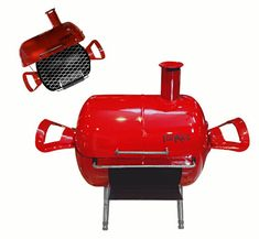 Afbeeldingsresultaat voor helium tank grill Gas Bottle Bbq, Gas Bottle Wood Burner, Bbq Grill Diy, Mini Grill, Metal Projects, Welding Projects, Diy Wood Stove, Diy Smoker, Fire Pit Bbq