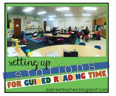 setting up stations for guided reading time literacy stations centers kindergarten elementary reading