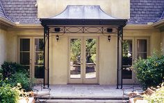 Metal awning canopy
