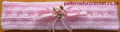 Free Crochet pattern for a headband from http://www.patternsforcrochet.co.uk/baby-headband-usa.html #freebabycrochetpatterns #patternsforcrochet