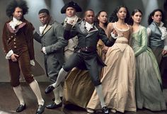 All Together Now - From left: Daveed Diggs, Okieriete Onaodowan, Christopher Jackson, Leslie Odom, Jr., Jasmine Cephas Jones, Renée Elise Goldsberry, Phillipa Soo, and Anthony Ramos.