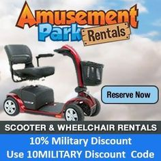 Disney World Military Discounts on Scooters and Wheelchairs. Wounded Warriors and Disabled Veterans are able to get military discounts on Mobility Scooters (ECVs) Rentals for their vacation at the Walt Disney World Resort. Disney World Trip, Disney World Resorts, Disney Vacations, Disney World Tips And Tricks, Disney Tips, Disney World Military Discount, Electric Scooter For Kids, Brat Pack, Disneyland Trip