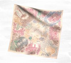 Hermès Le Jardin de Leila Floral Scarf, Floral Tie, Leila, Textiles, Hermes Handbags, Scarf Design, How To Wear Scarves, Vintage Scarf, Square Scarf