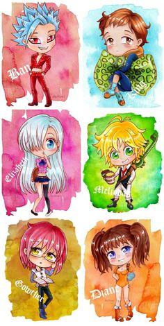 Chibi Seven Deadly Sins Chibi Anime, Kawaii Chibi, Kawaii Anime, Manga Anime, Seven Deadly Sins Anime, 7 Deadly Sins, Anime Angel, Anime Wolf, Anime Outfits