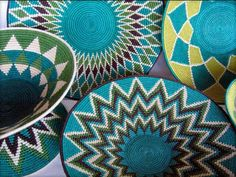 More woven bowls - you can never get enough beautiful bowls