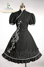Elegant Gothic Lolita Chinese style... Although I would like it better if it had cleavage.