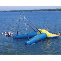 Where was this during our summers at the lake? The Floating Rope Swing - Hammacher Schlemmer