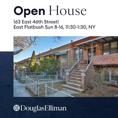 Come join us for an Open House! 163 E 46th Street - Sunday, 8/16 from 11:30 to 1:30 pm!  Legal 2 family home, R6 zoning 2 B/Rs, large living room, dining room, 1 bath w/steps leading down to a semi-finished basement & bottom level w/1 BR, full kitchen, dining room and 1 bath!!  Close to transportation, major hospitals and shopping! #openhouse #douglasellimanrealestate #everythingisbetterinbrooklyn #therebeccagoldbergteam #Legal2family #iloverealestate 😁😁😁 Property Listing, Property For Sale, Kitchen Dining, Dining Room, Douglas Elliman, Brooklyn New York, Madison Avenue, Real Estate Broker, Public School