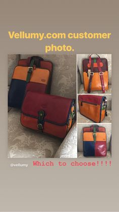 Gorgeous Tornabuoni multicolors, available from Vellumy.com Leather Satchel, Leather Backpack, Colorful Backpacks, Wall Pockets, Vegetable Tanned Leather, Italian Leather, Messenger Bag, Zip, Accessories