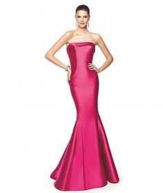 Pronovias Fiesta | Dark Pink Mermaid Evening Dress - Hong Kong | LMR Weddings
