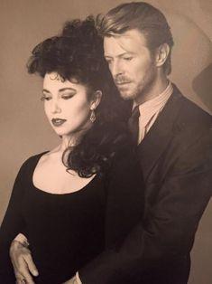vezzipuss.tumblr.com — David Bowie & Melissa Hurley, Circa 89