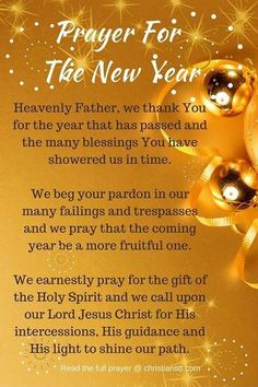 Prayer for the New Year  2018. Mildred Williams