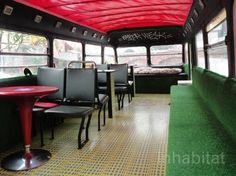 green design, eco design, sustainable design, hektikfood, double-decker bus, Berlin, Friedrichshain, vegan friendly restaurant Berlin, adapt...
