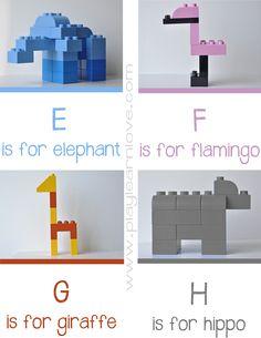 Lego alphabet 2 www.playlearnlove.com