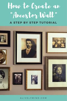 A great reminder of your family history. create a beautiful gallery wall of your ancestors in just a few easy steps Family Pictures On Wall, Display Family Photos, Family Wall, Gallery Wall Staircase, Gallery Walls, Staircase Walls, Art Gallery, Family Tree Photo, Memory Wall