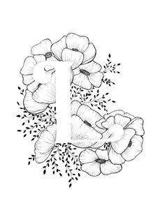 Lettera L di stampa  alfabeto calligrafia tipografia