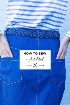 Did you see Tilly's Ness skirt with the plaited belt detail? If you fancy making your own, you're in luck! It's Serefina here, sewing pa. Sewing Basics, Sewing Hacks, Sewing Tutorials, Sewing Tips, Sewing Ideas, Sewing Crafts, Sewing Projects, Diy Projects, Sew Your Own Clothes