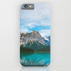 The Mountains and Blue Water - Nature Photography iPhone Case by staypositivedesign