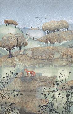 Penny Gaj at Beaulieu Fine Arts Art Drawings Sketches, Animal Drawings, Dandelion Drawing, Garden Painting, Art Furniture, Whimsical Art, Pretty Art, Landscape Art, Amazing Art