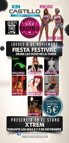 Festival Erótico de Alicante Alicante, Sexy, Castles, Fiestas