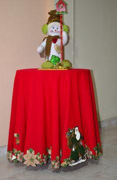 Mantel redondo navideño