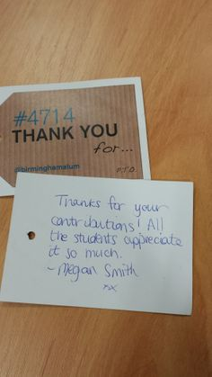 """""""We really appreciate all you do for us"""". #4714UoB #StudentEngageDay"""