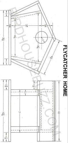 Printable Bird House Plans | Build A Flycatcher Bird House With Free Plans.