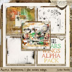 Captivated Visions - Artful Intentions: She wears wings [Digital Scrapbook Value Bundle] $13.42