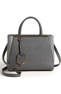 Fendi 'Petite 2Jours Elite' Leather Shopper available at #Nordstrom