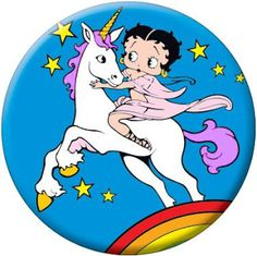Betty Boop Pictures Archive: unicorn ~ For 1,000's of #BettyBoop pictures, go to: http://bettybooppicturesarchive.blogspot.com/