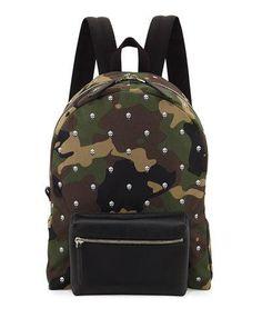 Camouflage-print Shell Backpack - Green Alexander McQueen 3hmQYNwm