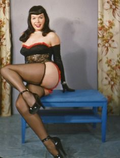 A more mature Betty Page - late 1950′s to early 1960′s most likely.