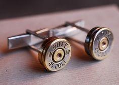 Bullet Cufflinks  gift idea for an outdoorsman