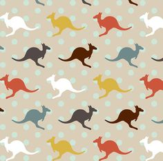 1 yard (or 1 fat quarter) of KangarooPolka by designer mrshervi. Printed on Organic Cotton Knit, Linen Cotton Canvas, Organic Cotton Sateen, Kona Cotton, Basic Cotton Ultra, Cotton Poplin, Minky, Fleece, or Satin fabric.  Available in yards and quarter yards (fat quarter). This fabric is digitally printed on demand as orders are placed. Unlike conventional textile manufacturing, very little waste of fabric, ink, water or electricity is used. We print using eco-friendly, water-based inks on…